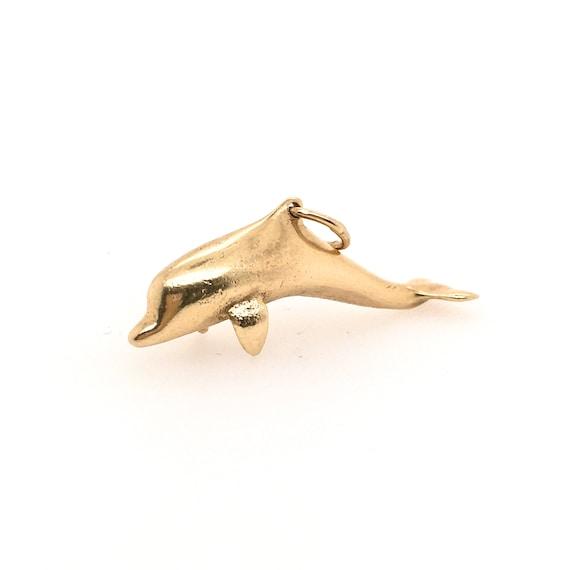 Dolphin Charm 14k Pendant /Charm