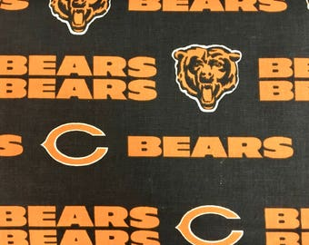 """CHICAGO BEARS nfl 60"""" Cotton Fabric By The Yard Blue Print Fabric Traditions"""