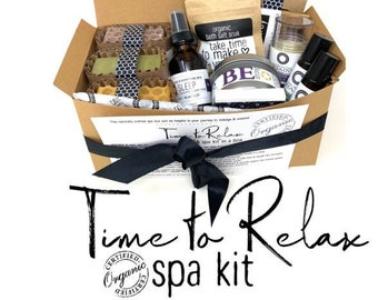 Spa Gift Set |  Pamper Gift for Her | Natural Spa Box |  Relaxation Gift