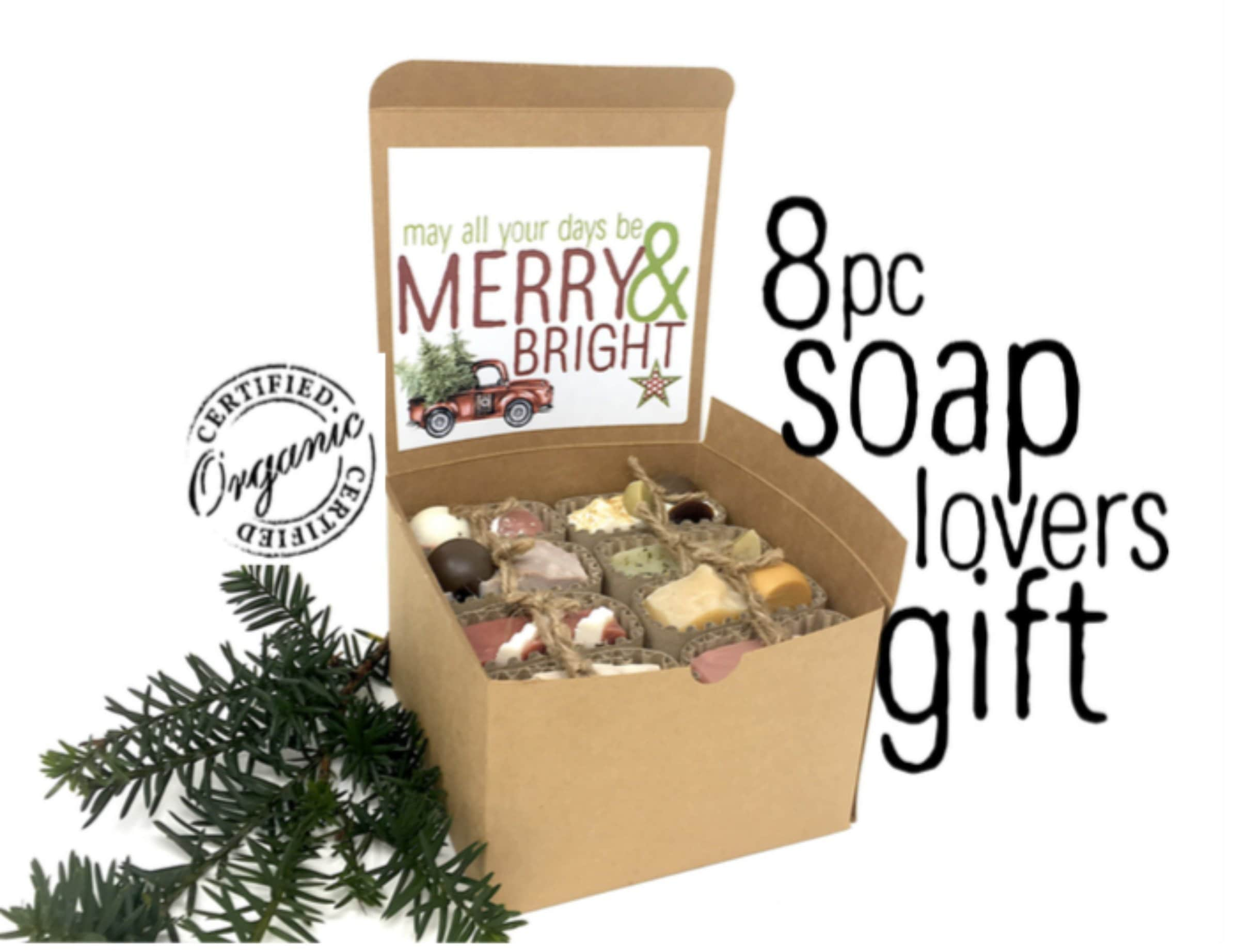 Merry & Bright Soap Lover Gift Box | Essential Oil Handcrafted Soap ...