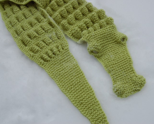 Hand Knitted Crocodile Alligator Scarf Etsy