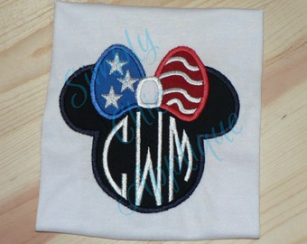Instant download wave flag applique embroidery design usa etsy