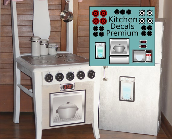 Digital Download Play Kitchen Stainless Printable Decals