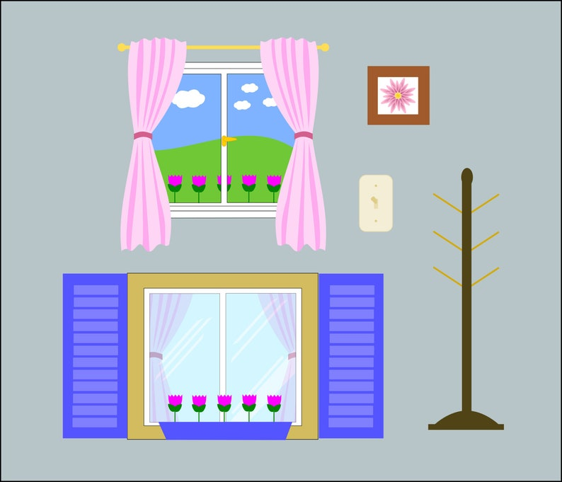 graphic regarding Dollhouse Windows Printable identified as Electronic Obtain Vector SVG Dollhouse Printable Decals Window and Equipment