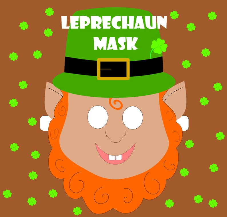 Digital Download Leprechaun Mask Printable File Etsy