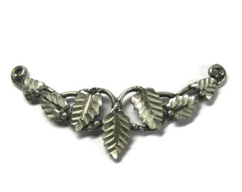 Vintage Black Hills Sterling Leaf Focal Pendant