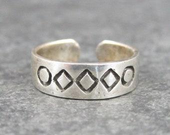 Vintage 90s Sterling Toe Ring