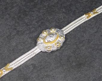 Vintage Western Concho Bracelet 7.5 Inches Circle Y