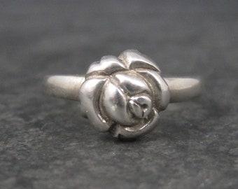 Vintage Sterling Rose Ring Size 9