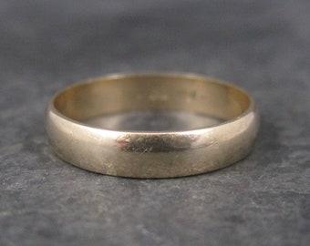 Vintage 10K Yellow Gold 3.5mm Wedding Band Ring Size 6