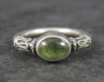 Vintage Balinese Sterling Peridot Ring Size 5