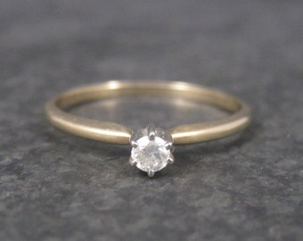 Dainty 10K .10 Carat Diamond Promise Engagement Ring Size 7