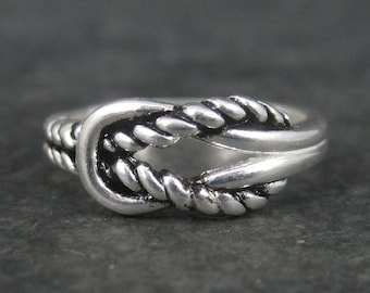 Vintage Sterling Lovers Knot Ring Size 6.5