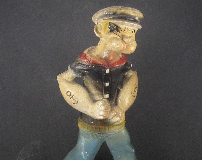 Large Vintage 30s Carnival Chalkware Popeye Figurine
