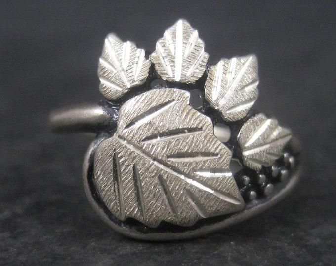 Vintage Black Hills Silver Sterling Leaf Ring Size 6