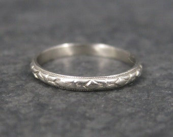 Antique 10K White Gold Baby Ring Size 2