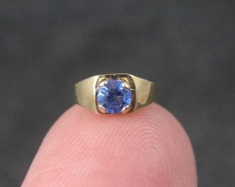 Vintage 14K Sapphire Birthstone Ring Charm