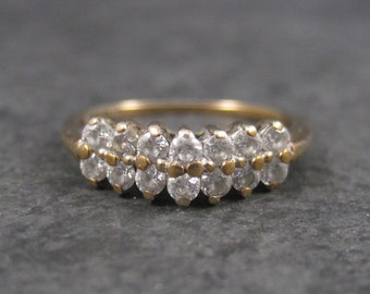 Vintage 10K Cubic Zirconia Ring Size 6