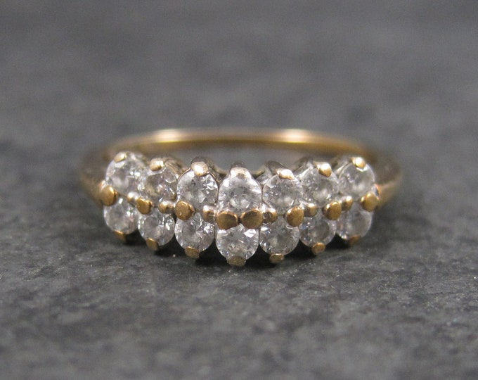 Vintage 10K Cubic Zirconia Ring Size 6
