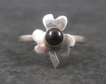 Dainty Mexican Sterling Clover Ring Size 6