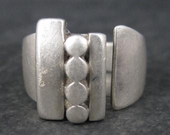 Vintage Modern Sterling Ring Adjustable Size 10