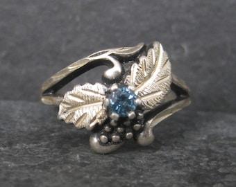 Vintage Black Hills Silver Sterling Topaz Ring Size 6
