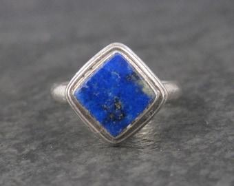 Vintage Sterling Lapis Lazuli Ring Size 7.25