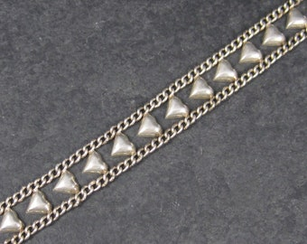 Vintage Sterling Heart Bracelet 7.5 Inches