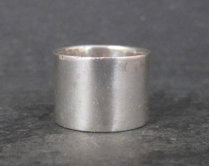 Wide Vintage Sterling Band Ring Size 5