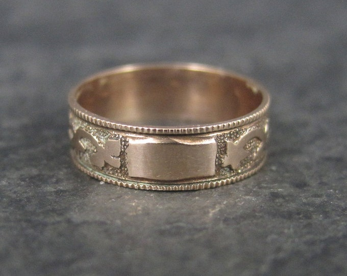 Antique Victorian 10K Baby Ring Size 0 New Old Stock