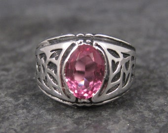Vintage Pink Sapphire Pinky Ring Sterling Size 4 Joseph Esposito