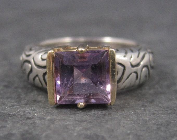 Vintage Sterling 14K Amethyst Ring Size 7 Clyde Duneier