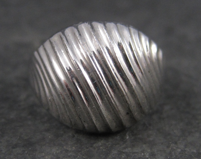 Vintage Sterling Textured Dome Ring Size 8.5