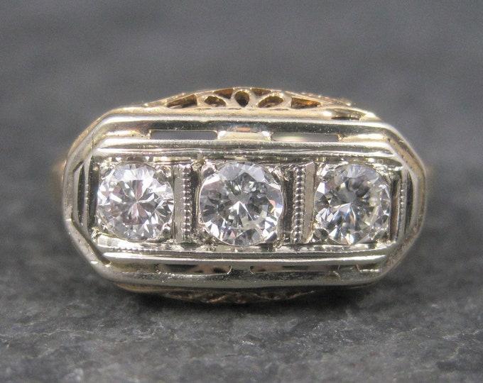 Antique 14K Art Deco Diamond Ring Size 5