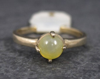 Vintage 10K Yellow Linde Star Sapphire Ring Size 6.25 New Old Stock