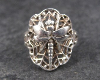 Vintage Sterling Dragonfly Ring Size 4.75