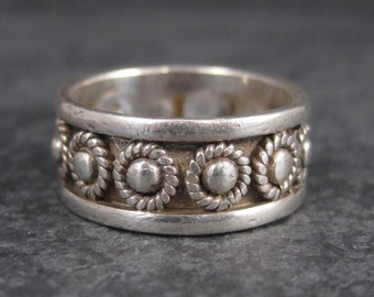 Vintage 900 Silver Cannetille Band Ring Size 6