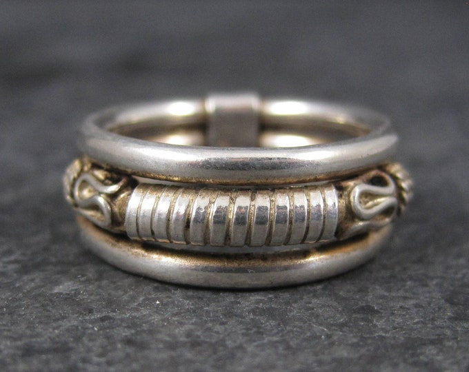 Vintage Balinese Sterling Band Ring Size 4.5