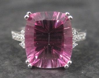 Vintage Sterling Pink Topaz Ring Size 7