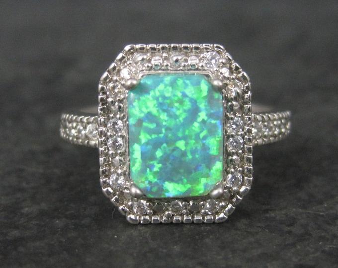Vintage Sterling Opal Ring Size 8