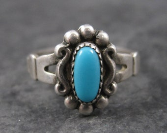 Vintage Bell Trading Post Turquoise Ring Size 5.5
