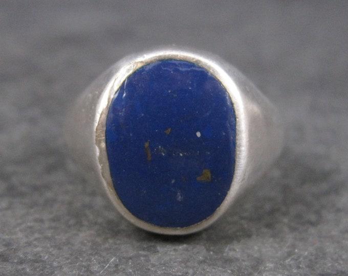 Vintage Sterling Lapis Lazuli Ring Size 9.5