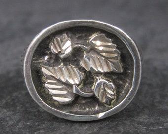 Mens Vintage Black Hills Silver Ring Size 8