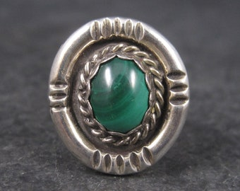 Vintage Navajo Sterling Malachite Ring Sterling Size 6