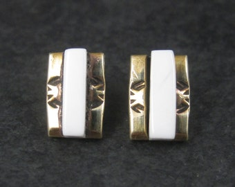 Southwestern Sterling Gold Filled Raised Inlay Earrings