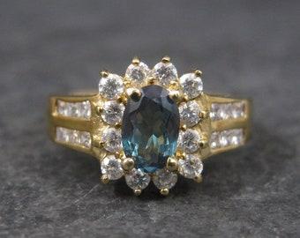 Vintage 10K .50 Carat Oval Diopside Ring Size 8