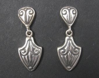 Vintage Sterling Art Nouveau Style Earrings