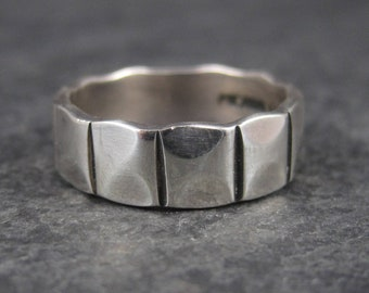Vintage Mexican Sterling Band Ring Size 8