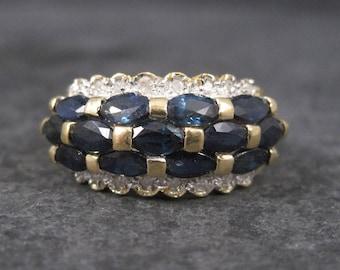 Vintage 14k Sapphire Diamond Ring Size 7