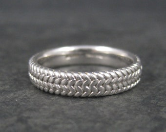 Vintage Braided Sterling Band Ring Size 9
